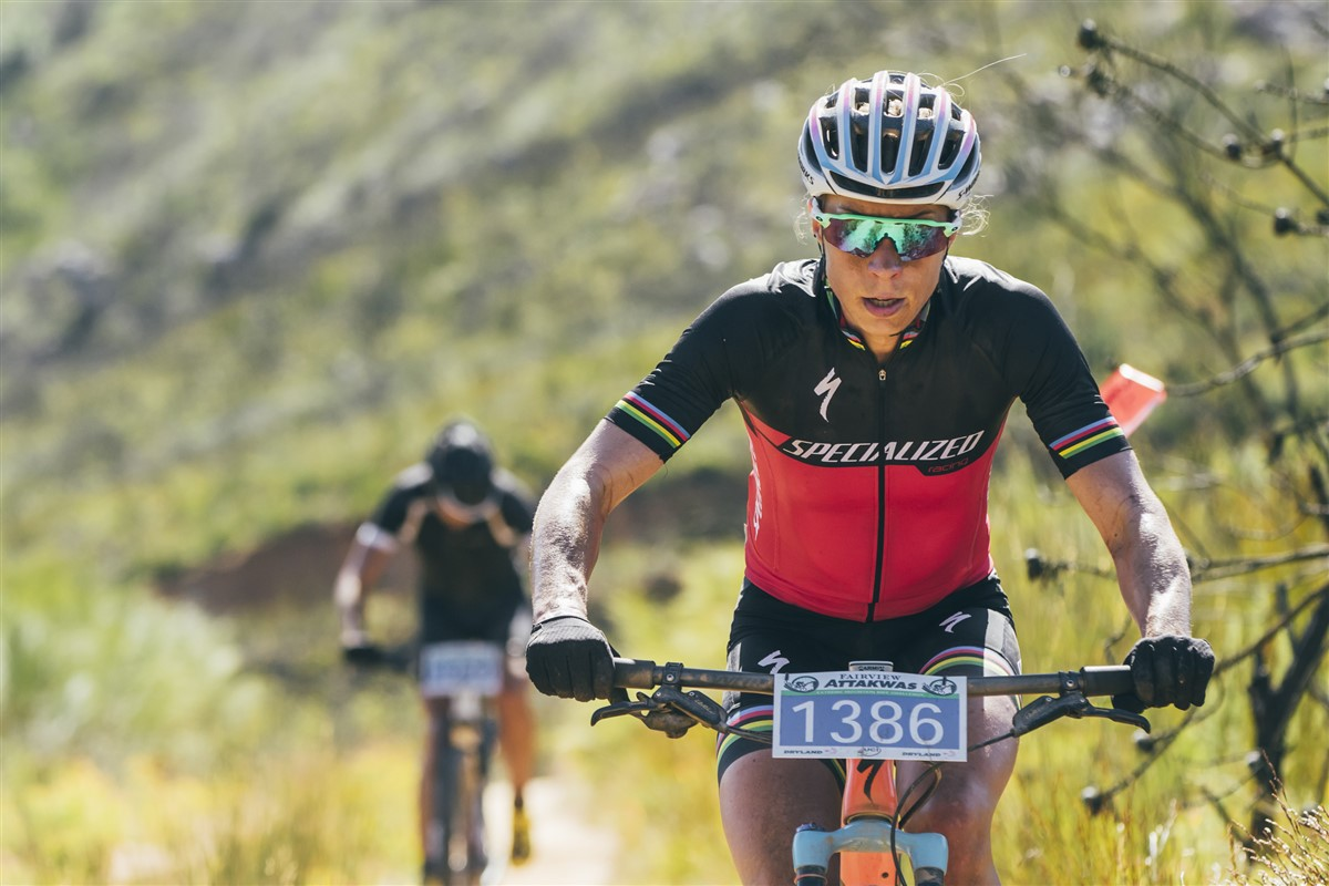 Denmark's Annika Langvad set a new women's record at her first attempt at the at the Momentum Health Attakwas Extreme, presented by Biogen. Photo credit: Ewald Sadie