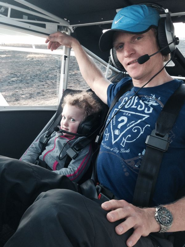 One of Jonathan Odendaal's passions before his accident was flying, and he had a private pilot's licence. Photo courtesy of Cherise Odendaal.