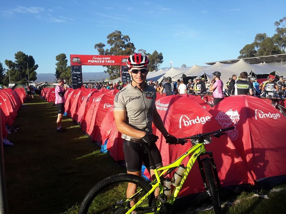 Jonathan Odendaal during the 2014 Cape Pioneer Trek, where he was the top placed amateur, just weeks before his accident. Photo courtesy of Cherise Odendaal.