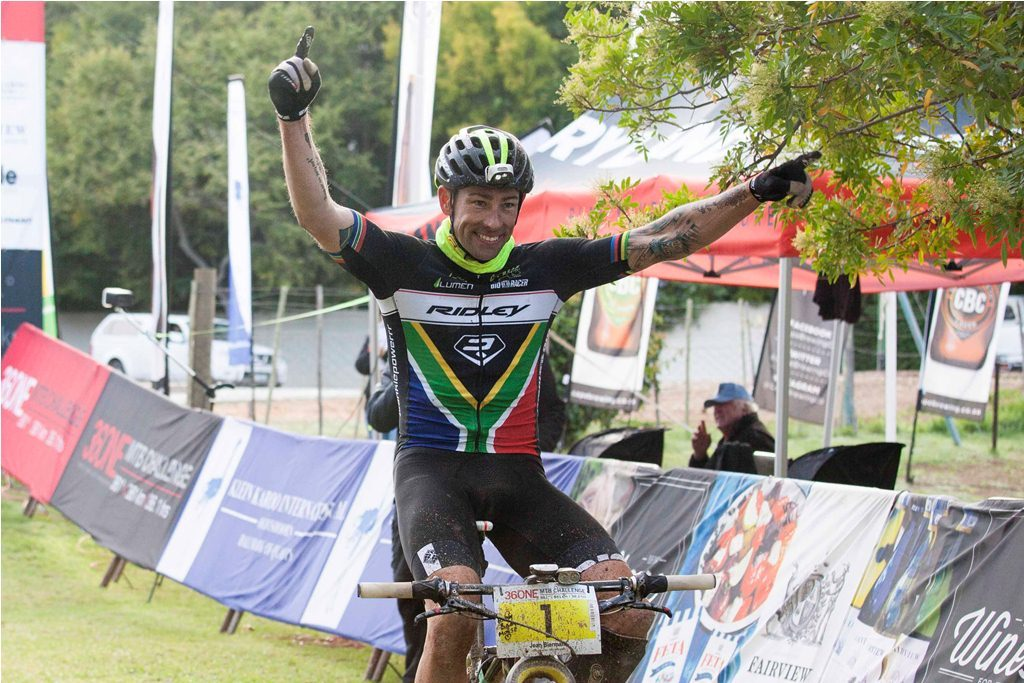 Jean Biermans is keen to repeat his 2015 36ONE MTB Challenge winning ride and could challenge the course record, conditions permitting. Photo by Jazz Kuschke.