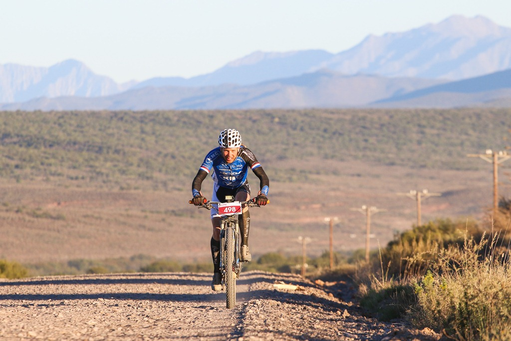 Ramses Bekkenk set a new course record, stopping the clock a shade under 14 hours in the 2017 36ONE MTB Challenge. Photo by Oakpics.com. Photo by Oakpics.com.