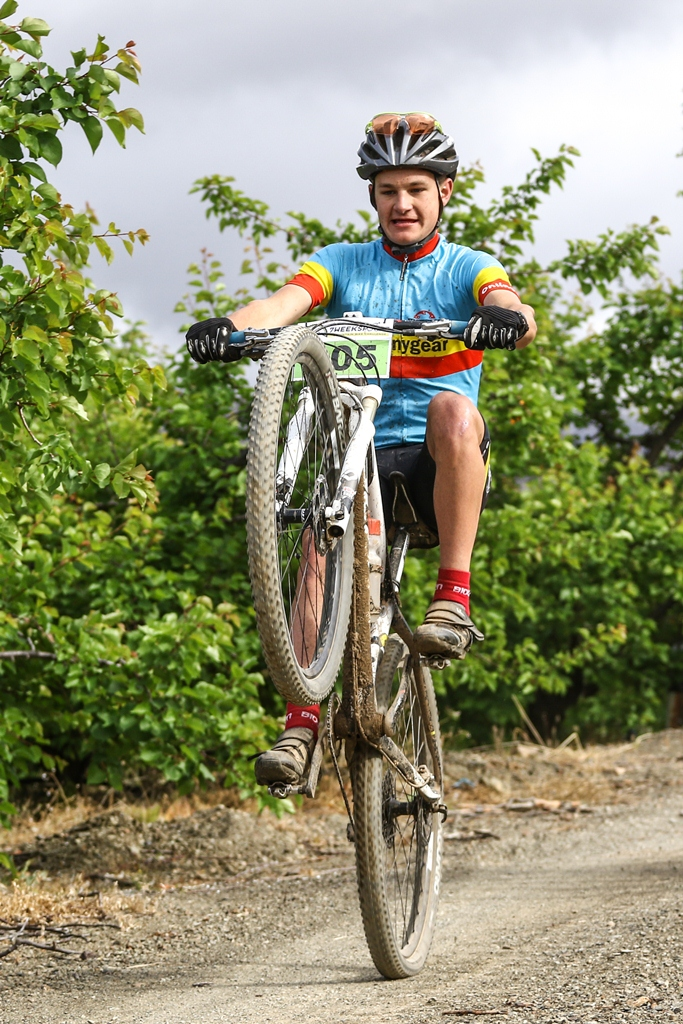 The Ladismith Cheese 7Weekspoort MTB Challenge strikes the balance between racing and fun, even for riders taking part in the Schools' Race. Photo by Oakpics.com.