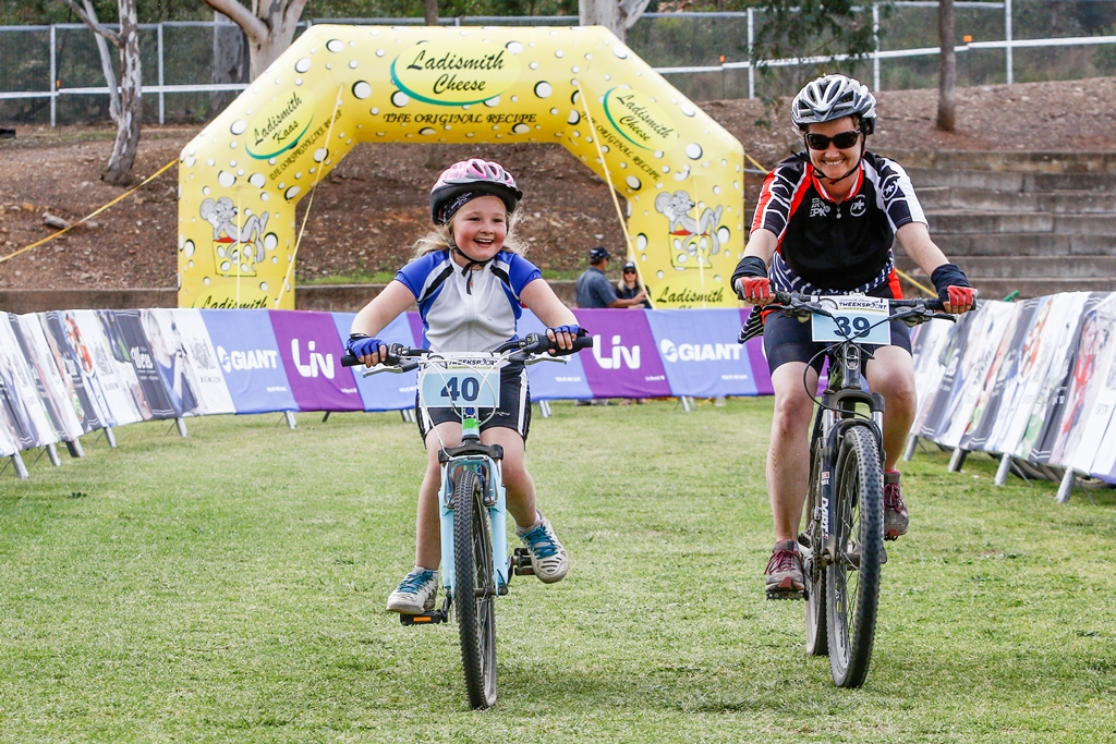 It is the aim of Dryland Event Management to help foster a lifelong love of mountain biking through the Schools' Race categories at the Ladismith Cheese 7Weekspoort MTB Challenge. Photo by Oakpics.com.