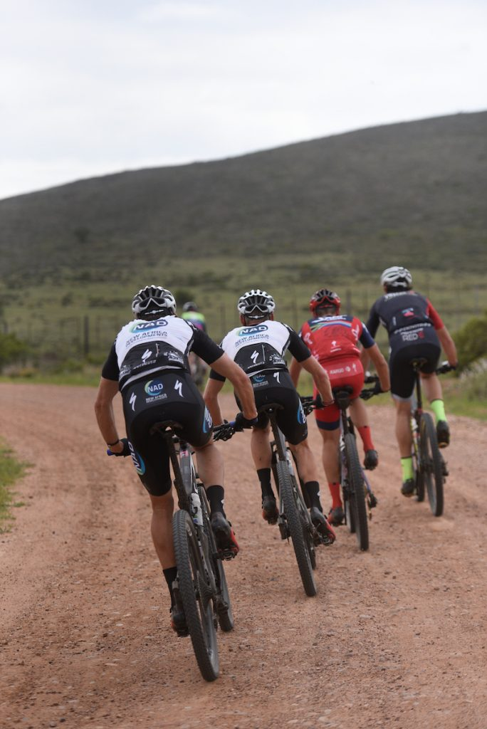 The NAD Pro MTB and Team Spur/Red-E riders set the pace during Stage 1 of the Momentum Health Cape Pioneer Trek, presented by Biogen on Sunday the 15th of October. Photo by Zoon Cronje.